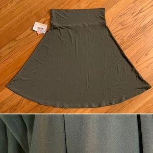 Awesome Army Green Azure Skirt slinky, soft NWT